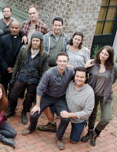 """bethkinneysings: """" The Walking Dead Cast behind the scenes of The Walking Dead Season 6 Episode 12   Not Tomorrow Yet """""""