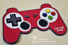 Game controller card by Jeanne - LOVE it! This would be perfect for my brother lol