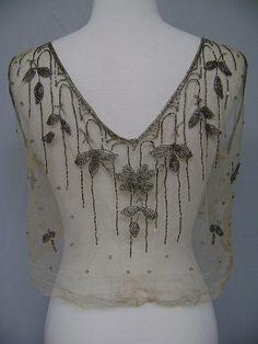 Blouse / beaded Blouse / Dress Bodice / by iandrummondvintage, $95.00