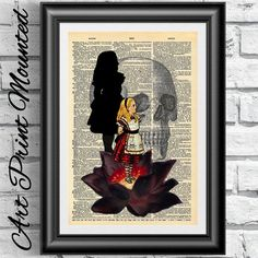 Hey, I found this really awesome Etsy listing at https://www.etsy.com/listing/194383048/mounted-gothic-alice-in-wonderland