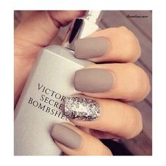 55 Simple Nail Art Designs for Short Nails 2016 ❤ liked on Polyvore featuring beauty products, nail care and nail treatments