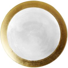 Pier 1 Imports Gilded Royale Glass Salad Plate ($10) ❤ liked on Polyvore featuring home, kitchen & dining, dinnerware, glass salad plates, handpainted plates, gold rimmed glass plates, gold rimmed dinnerware and gold rimmed plates