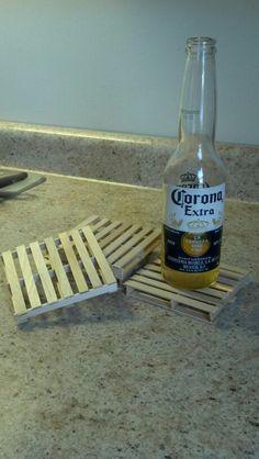 how to make mini wood chip coaster