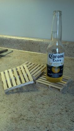 Popcicle stick Pallet coasters-SO AWESOME!