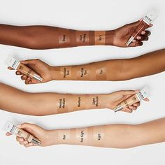 Shop IT Cosmetics' CC+ Cream with SPF at Sephora. This color-correcting, full-coverage foundation with SPF 50 physical mineral sunscreen delivers a flawless, natural finish. Foundation With Spf, Full Coverage Foundation, Foundation Colors, Drugstore Foundation, It Cosmetics Cc Cream Swatches, It Cosmetics Brushes, Makeup Swatches, Drugstore Makeup, Best Cc Cream