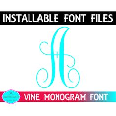 Excited to share the latest addition to my #etsy shop: Vine Monogram, Vine Font,Vine TTf, Vine Monogram Font Initial Font | Font in ttf ( true type font ) otf ( open type font) formats http://etsy.me/2B8XNfK #supplies #calligraphy #vineinitials #vinefont #vinemonogram