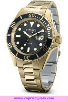#relojes #watches #moda #fashion #accesorios #complementos #hombres #capricciplata #regalos #tiendaonline Gold Watch, Rolex Watches, Fashion, Diamonds, Clocks, Create, Tent, Presents, Men