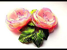 Цветы из Ткани /  Flower of Fabrics - YouTube Diy Lace Ribbon Flowers, Organza Flowers, Cloth Flowers, Kanzashi Flowers, Fabric Ribbon, Beaded Flowers, Fabric Flowers, Fabric Flower Tutorial, Rose Tutorial