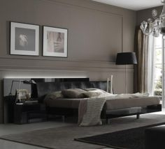 A neutral palette can be great for the master bedroom. It is both unisex and classy.  The taupe mixes warm neutrals with black. Rossetto t412600375028 large view