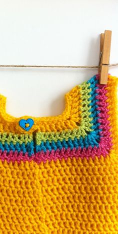 Crochet dress for girls by AnnamariaMK on Etsy