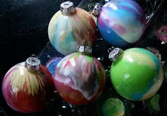 My first tutorial.  Paint Ornaments: I made these several years ago, maybe 10, and had not done them since.  Not sure why because they are S...