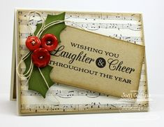 Wishing You Laughter & Cheer! by Kharmagirl - Cards and Paper Crafts at Splitcoaststampers