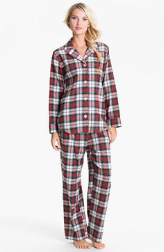 Lauren Ralph Lauren Sleepwear Brush Twill Plaid Pajamas available at Nordstrom
