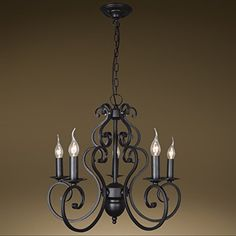 Steel chandeliers kenley 6 light chandelier six light chandelier byb a32 series wrought iron candle light chandelier ceiling lighting simplicity antique oiled bronze aloadofball Gallery