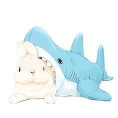 Cute Food Drawings, Cute Shark, Cute Animals, Baby Animals, Furry Comic, Bunny Art, Cute Icons, Baby Bunnies, Marker Art