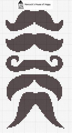 Hancock's House of Happy: Free Movember Mustache Cross Stitch Hama Perler Chart Perler Beads, Fuse Beads, Motifs Perler, Perler Patterns, Moustaches, Movember Mustache, Cross Stitch Charts, Cross Stitch Patterns, Cross Stitching
