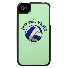 Volleyball Team Gifts - Blue iPhone 4 Cases