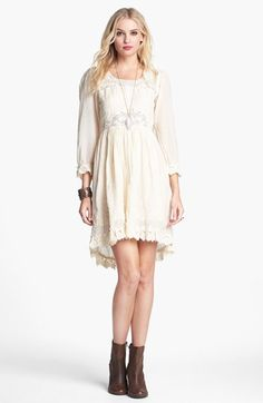 9be3659dbb451 Free People  Montana  Embroidery  amp  Lace Cotton High Low Dress available  at