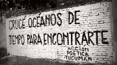 Crucé océanos de tiempo para encontrarte. / Acción poética.