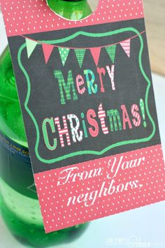 Christmas Soda Tag -