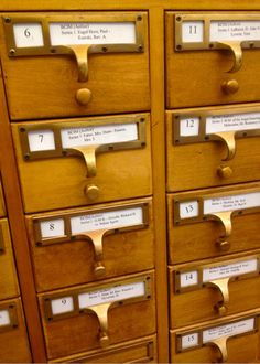 Card catalogue cabinet at Marquette Archives