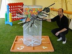 Giant Games: Another version of Kerplunk to consider. I like the basic design of the other one, but the type of wire on this one. I think it would be sturdier.