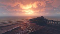 Sunset at Del PierroVespucci Beach. #grandtheftautov#gtav#rockstargames#landscape #art #beautiful#moment #love#pic#ambience