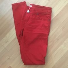 Express red skinny jeans Express red skinny jeans - only worn once or twice. In awesome condition! Express Jeans Skinny