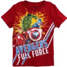 Avengers Boys Red T-Shirt AX066S6Y