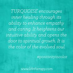 """This colour is of your throat chakra ... Spiritual meaning......""""communication"""""""