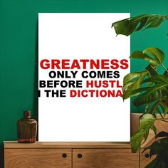 Metal Poster Hustle Before Greatness