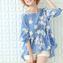 2016 Nueva Primavera Verano Vestidos Bordado Blusas Volantes estilo de la Muñeca Del Kimono Japonés Ocasional camisa de La Blusa de Las Mujeres capa Superior Femenina(China (Mainland))