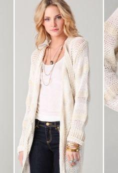 Drape yourself in Rachel Zoe. #cardigan #boho #knit | @rachelzoe from www.outlet77.com
