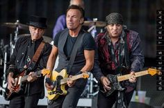 Nils, Bruce, and Stevie performing in the Netherlands, June 2016.