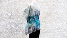 Kimono Jacket Evening Silk Jacket Boho Style Turquoise Blue Short Kimono Fashion Kimono Oversize