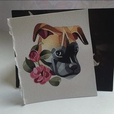 Sasha Unisex has a new watercolor drawing of a BOXER Life made. Tattoo ready.