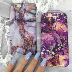 Awesome purple marble phone cases