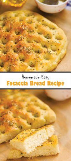 Homemade Easy Focaccia Bread Recipe - delishmeal.biz