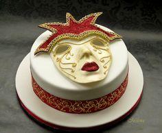 Venetian Mask cake