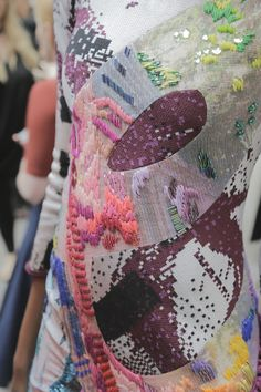 E S T N O I R: GFW: JEMMA BEECH BACKSTAGE AT CSM GRADUATE SHOWCASE 2015 #fashion #textiles