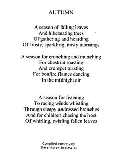 And for children chasing the host of whirling, twirling fallen leaves.