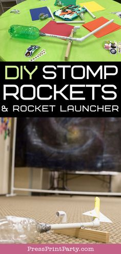 Discover how to make DIY stomp rockets & stomp rocket launcher at home. Great activity for VBS, a science party or a space themed party. Rocket Ship Craft, Diy Rocket, Build A Rocket, Rocket Ships, Carpe Diem, Cat Themed Parties, Birthday Parties, 9th Birthday, Birthday Ideas