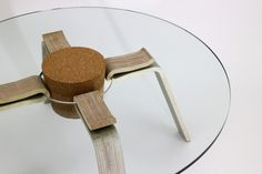 Cork Stopper Table by Hyeonil Jeong