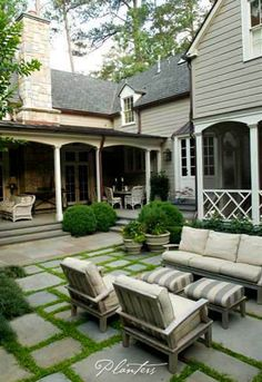 Covered porch, screened porch, Chippendale rail -- Photo is the property of Planters Garden, Jeremy Smearman.