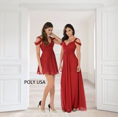 798e31364d61 POLY USA - Bridesmaids dresses. Style 7882 and 7883. Short or Long, it