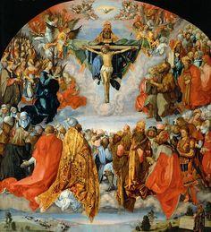 『聖三位一体』アルブレヒト・デューラーが二度目のイタリア滞在後に描いた作品(ウィーン美術史美術館, 1511年)  ファイル:Albrecht Dürer 003.jpg