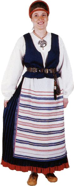 Kirvu. Carelia Folk Costume, Costumes, Viking Dress, Black And White Pictures, Traditional Dresses, Finland, Midnight Sun, Gowns, Folk Art
