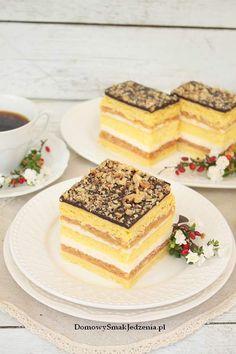 Polish Cake Recipe, Polish Recipes, No Bake Desserts, Delicious Desserts, Dessert Recipes, Apple Cake Recipes, Cookie Recipes, Italian Pastries, Homemade Cakes