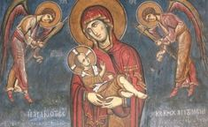 explanation in the article why the Christ is wearing an earring (reason very much intertwined with Byzantine traditions) Art Folder, Byzantine Icons, Orthodox Icons, Christ, Painting, Virgin Mary, God, Painting Art, Paintings