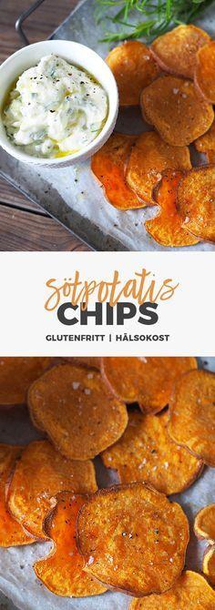 Recept: Hasselbackspotatis på sötpotatis med getostcréme.
